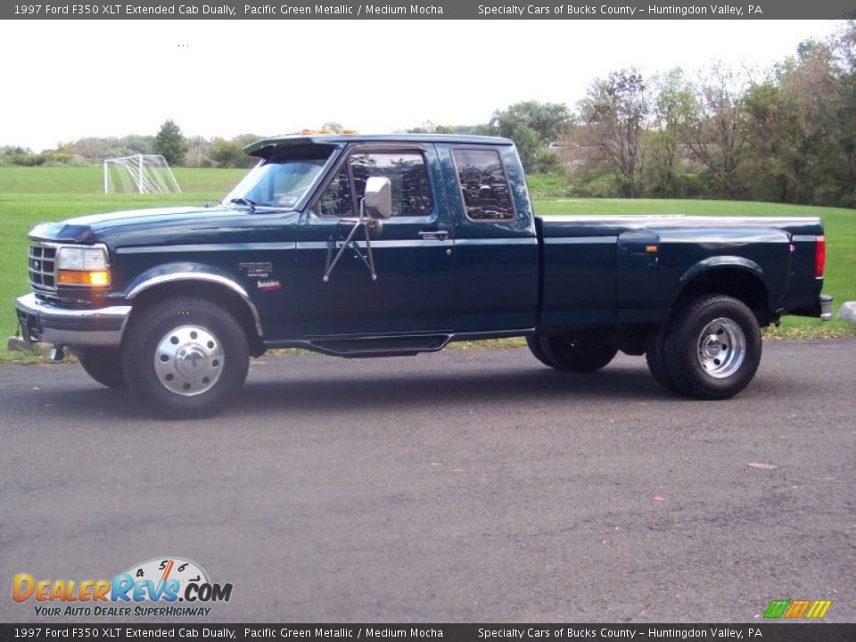 1997 ford f350 xlt extended cab dually pacific green metallic medium mocha photo 3. Black Bedroom Furniture Sets. Home Design Ideas