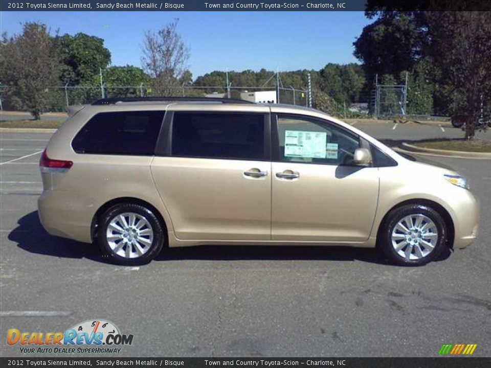 2012 Toyota Sienna Limited Sandy Beach Metallic Bisque