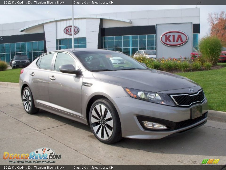 2012 kia optima sx titanium silver black photo 1. Black Bedroom Furniture Sets. Home Design Ideas