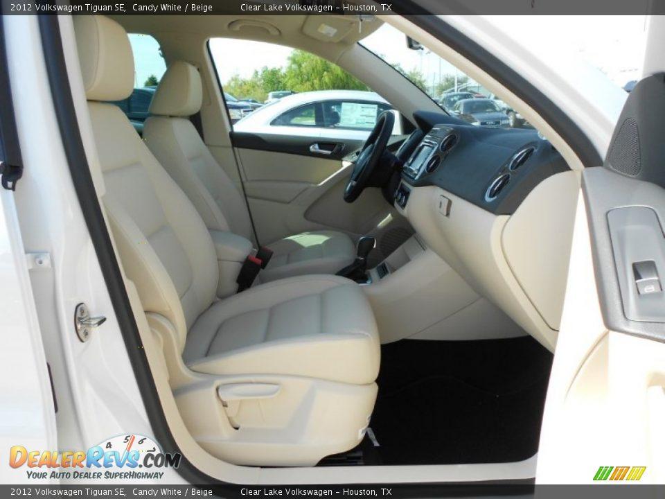Beige Interior 2012 Volkswagen Tiguan Se Photo 13
