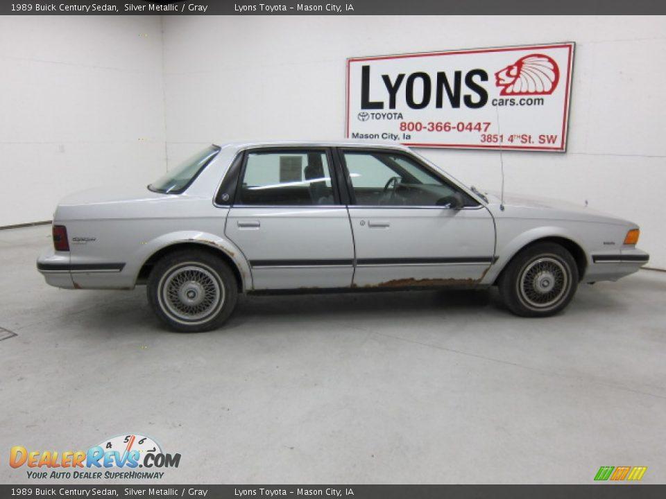 1989 Buick Century Sedan Silver Metallic Gray Photo 9