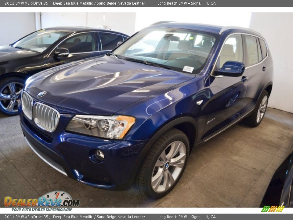 2011 Bmw X3 Xdrive 35i Deep Sea Blue Metallic Sand Beige
