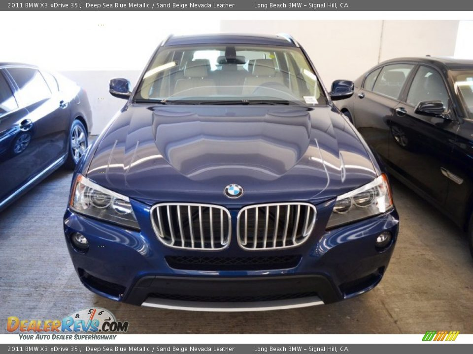 Deep Sea Blue Metallic 2011 Bmw X3 Xdrive 35i Photo 9