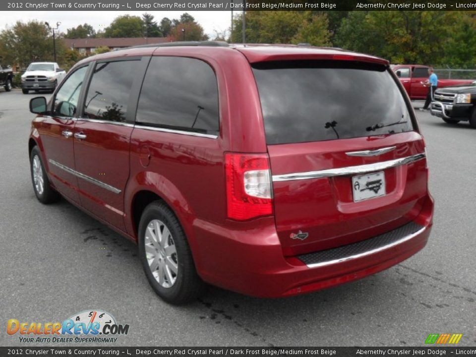 2012 chrysler town country touring l deep cherry red crystal pearl dark frost beige medium. Black Bedroom Furniture Sets. Home Design Ideas