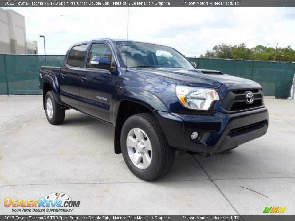 2012 toyota tacoma v6 trd sport prerunner double cab nautical blue metallic graphite photo 1. Black Bedroom Furniture Sets. Home Design Ideas