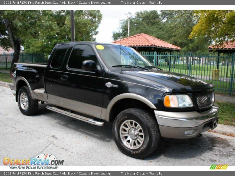 Black 2003 Ford F150 King Ranch Supercab 4x4 Photo 12