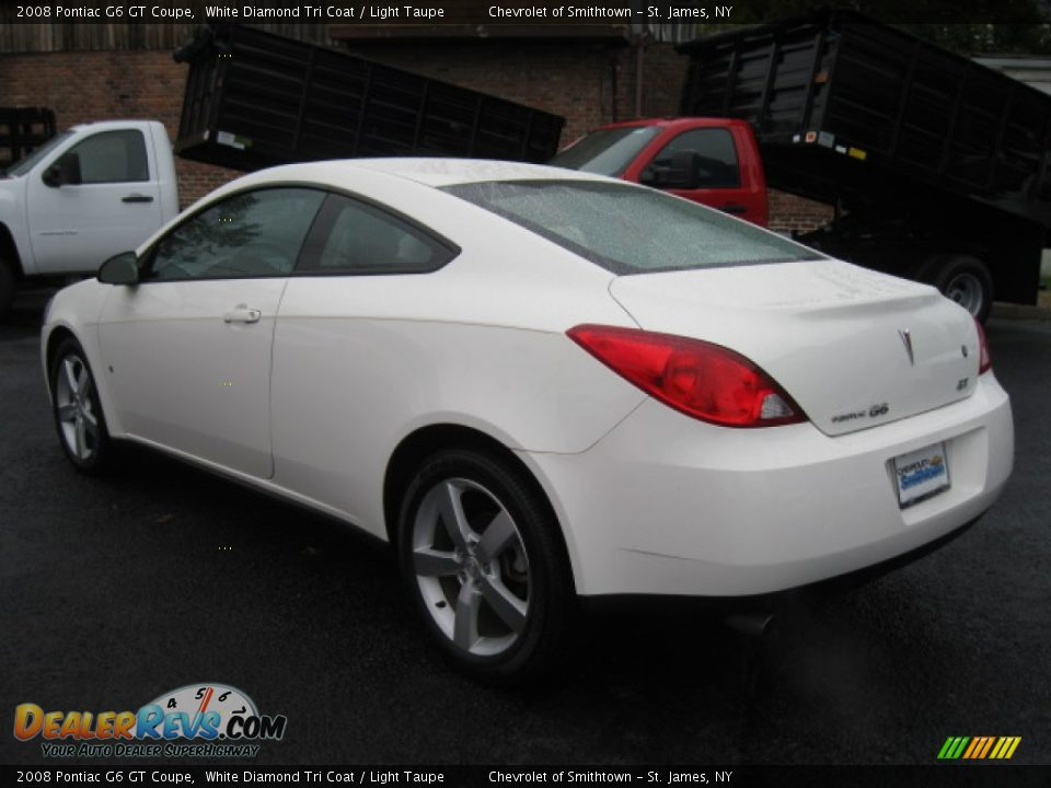 2008 Pontiac G6 GT Coupe White Diamond Tri Coat / Light Taupe Photo #3 ...