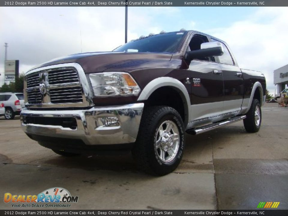 2012 dodge ram 2500 hd laramie crew cab 4x4 deep cherry red crystal pearl dark slate photo 1. Black Bedroom Furniture Sets. Home Design Ideas