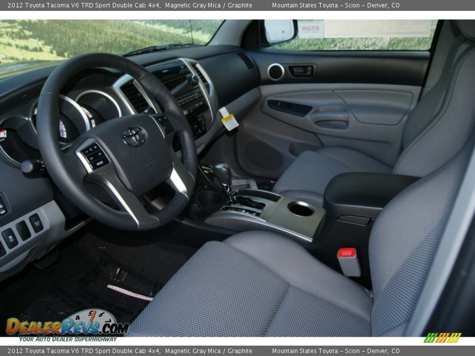 graphite interior 2012 toyota tacoma v6 trd sport double. Black Bedroom Furniture Sets. Home Design Ideas