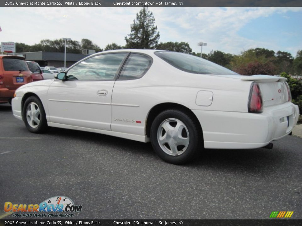 2003 Chevrolet Monte Carlo Ss White Ebony Black Photo 2