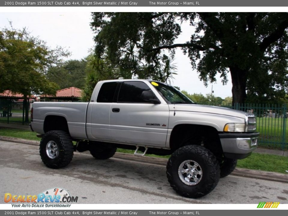 2001 dodge ram 1500 slt club cab 4x4 bright silver metallic mist gray photo 12. Black Bedroom Furniture Sets. Home Design Ideas