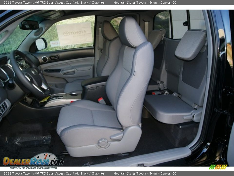 graphite interior 2012 toyota tacoma v6 trd sport access. Black Bedroom Furniture Sets. Home Design Ideas