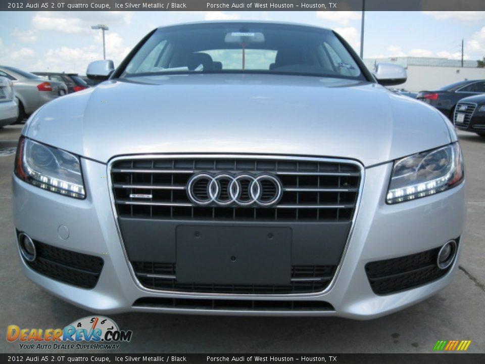 2012 Audi A5 2.0T quattro Coupe Ice Silver Metallic / Black Photo #2