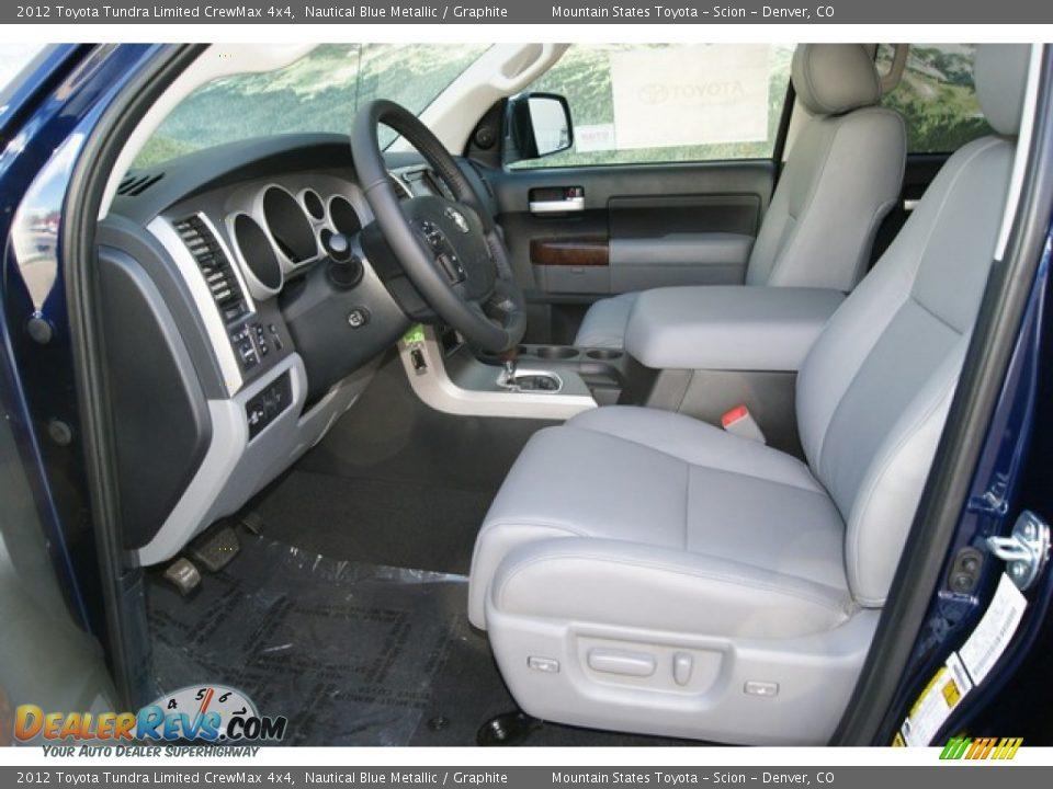 Graphite Interior 2012 Toyota Tundra Limited Crewmax 4x4