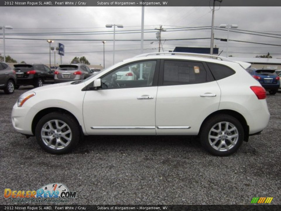 pearl white 2012 nissan rogue sl awd photo 4. Black Bedroom Furniture Sets. Home Design Ideas
