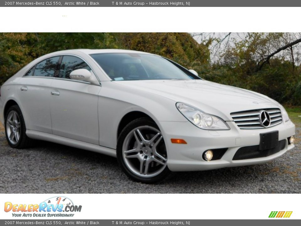 2007 mercedes benz cls 550 arctic white black photo 2 for 2007 mercedes benz cls