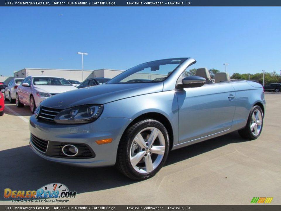 2012 Volkswagen Eos Lux Horizon Blue Metallic / Cornsilk ...