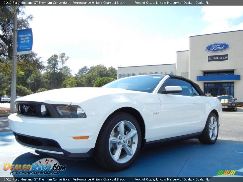 2012 ford mustang gt premium convertible performance white charcoal black photo 1. Black Bedroom Furniture Sets. Home Design Ideas
