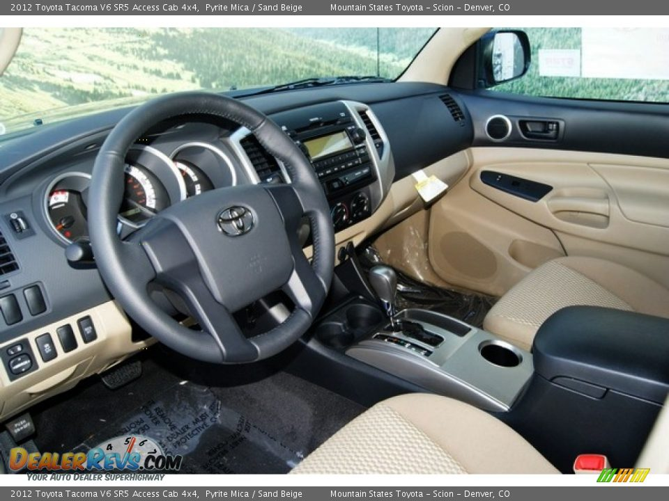 sand beige interior 2012 toyota tacoma v6 sr5 access cab. Black Bedroom Furniture Sets. Home Design Ideas