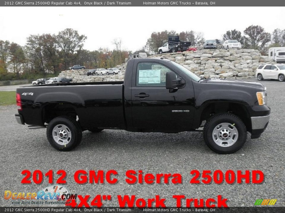 2012 gmc sierra 2500hd regular cab 4x4 onyx black dark titanium photo 1. Black Bedroom Furniture Sets. Home Design Ideas