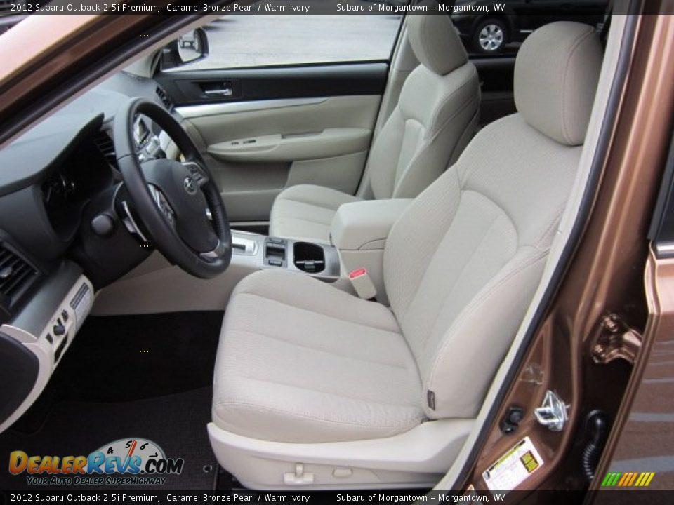 Warm Ivory Interior 2012 Subaru Outback Premium Photo 16