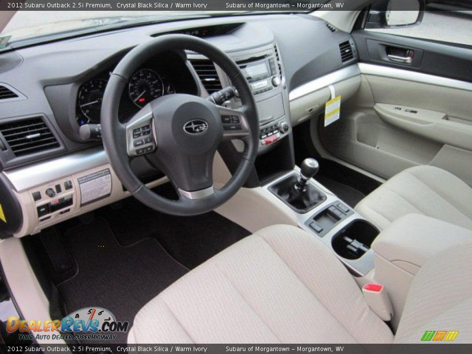 Warm Ivory Interior 2012 Subaru Outback Premium Photo 17