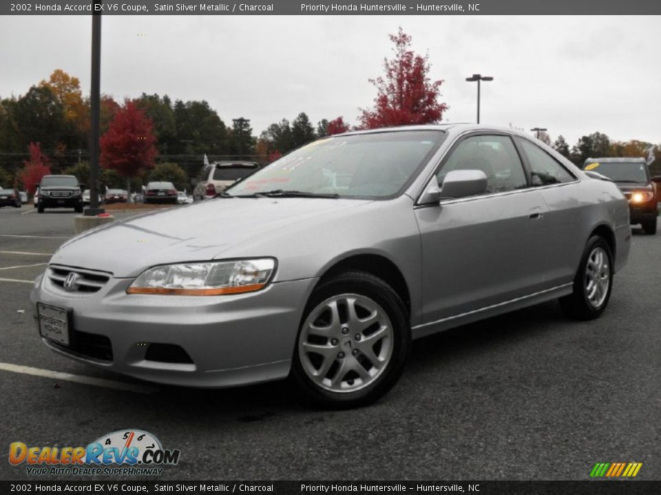 2002 honda accord ex v6 coupe satin silver metallic charcoal photo 1. Black Bedroom Furniture Sets. Home Design Ideas