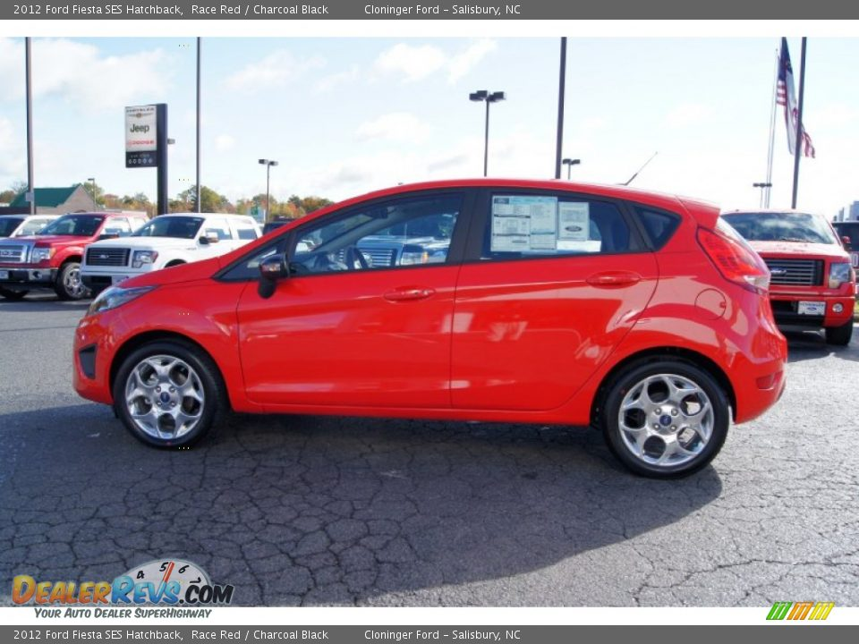 2012 Ford Fiesta SES Hatchback Race Red / Charcoal Black Photo #5 ...