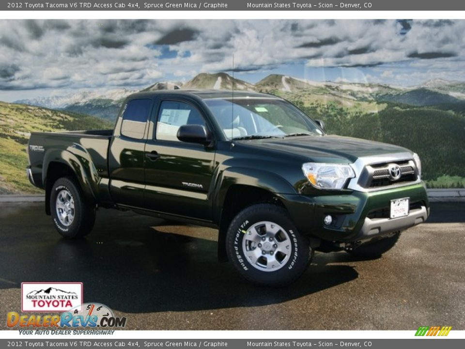 2012 toyota tacoma v6 trd access cab 4x4 spruce green mica graphite photo 1. Black Bedroom Furniture Sets. Home Design Ideas