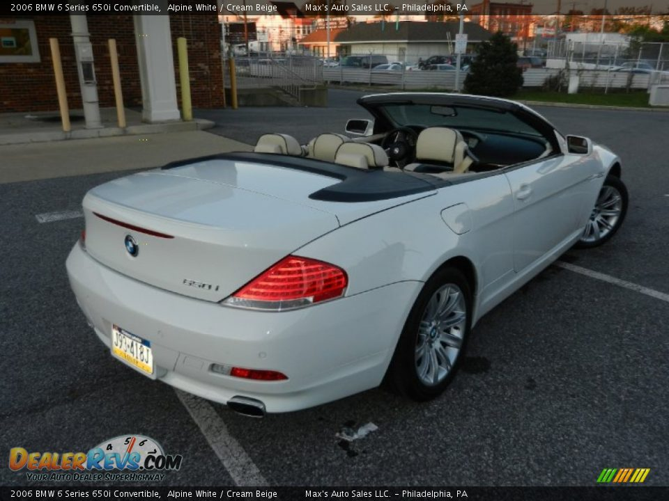 2006 bmw 6 series 650i convertible alpine white cream beige photo 5. Black Bedroom Furniture Sets. Home Design Ideas