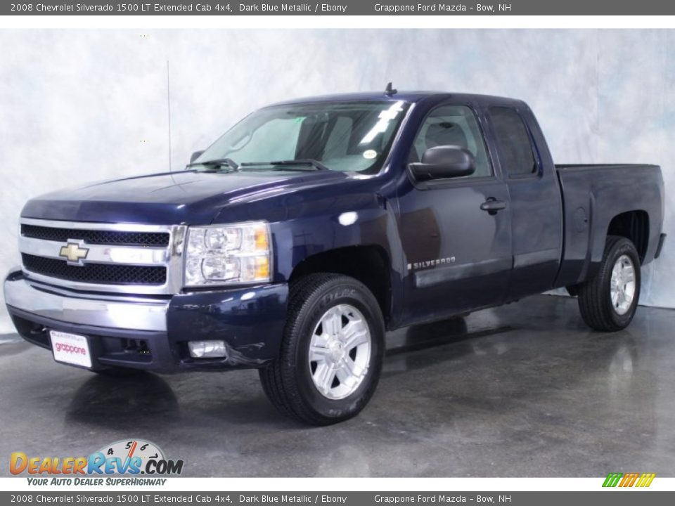 2008 chevrolet silverado 1500 lt extended cab 4x4 dark blue metallic ebony photo 1. Black Bedroom Furniture Sets. Home Design Ideas