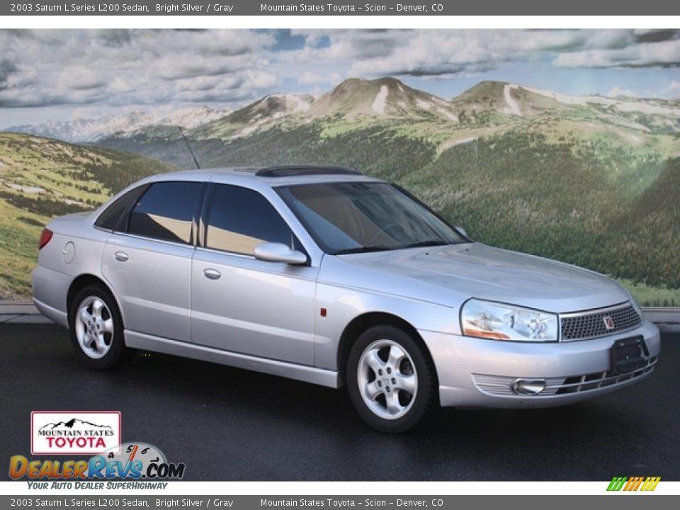 2003 saturn l series l200 sedan bright silver gray photo 1. Black Bedroom Furniture Sets. Home Design Ideas