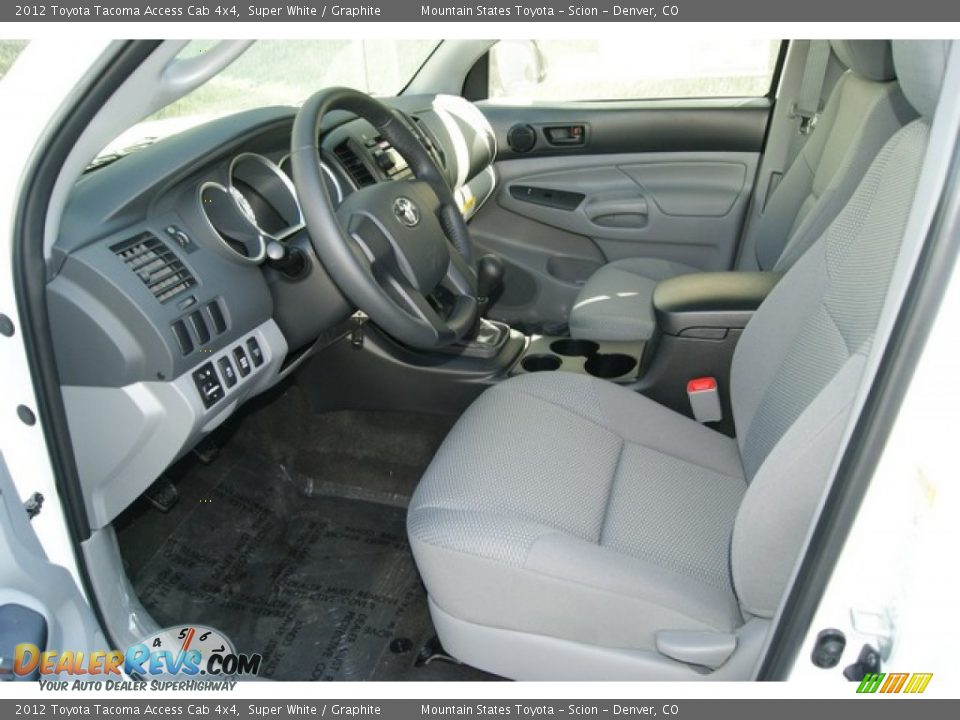 graphite interior 2012 toyota tacoma access cab 4x4. Black Bedroom Furniture Sets. Home Design Ideas