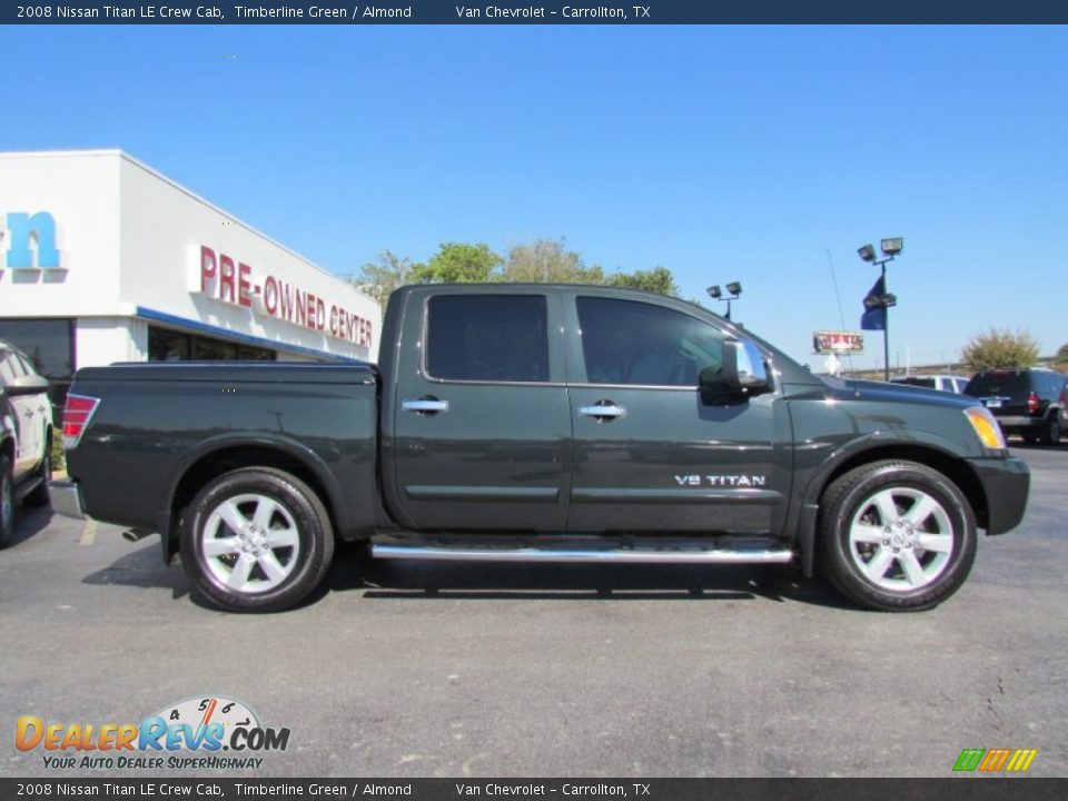 2008 nissan titan le crew cab timberline green almond photo 8. Black Bedroom Furniture Sets. Home Design Ideas