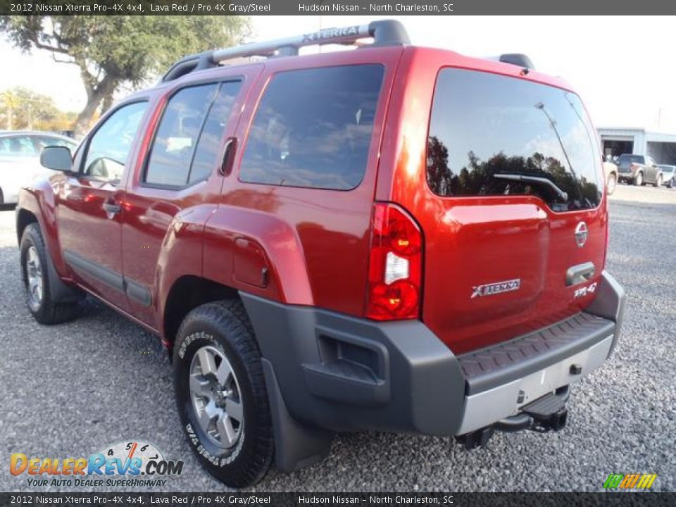 lava red 2012 nissan xterra pro 4x 4x4 photo 3. Black Bedroom Furniture Sets. Home Design Ideas