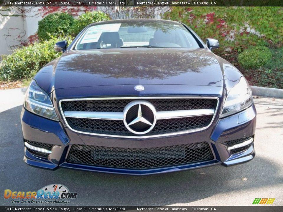 2012 mercedes benz cls 550 coupe lunar blue metallic ash for Mercedes benz lunar blue
