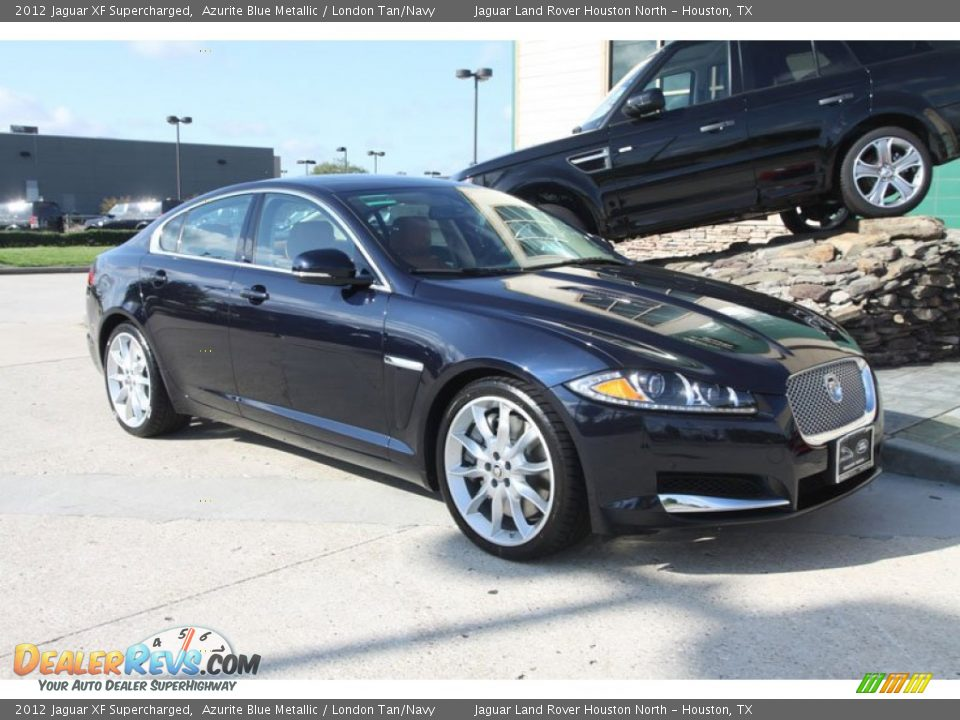 2012 jaguar xf supercharged azurite blue metallic london tan navy photo 2. Black Bedroom Furniture Sets. Home Design Ideas