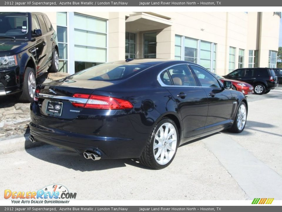 2012 jaguar xf supercharged azurite blue metallic london tan navy photo 3. Black Bedroom Furniture Sets. Home Design Ideas