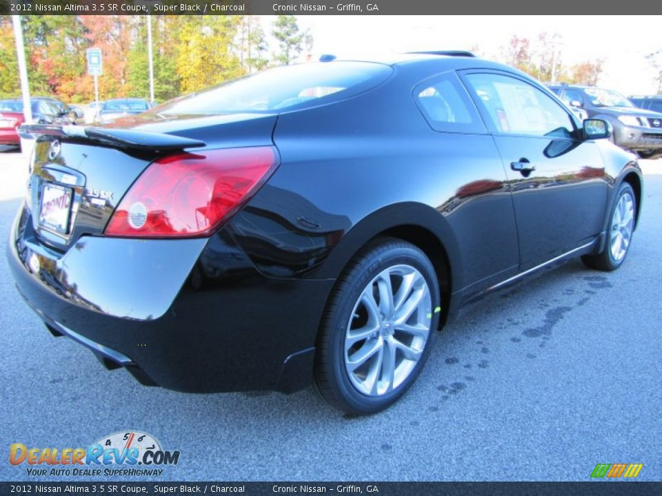 2012 nissan altima 3 5 sr coupe super black charcoal photo 5. Black Bedroom Furniture Sets. Home Design Ideas