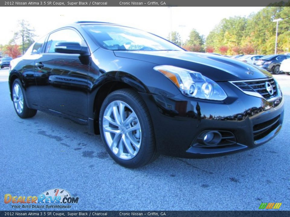 2012 nissan altima 3 5 sr coupe super black charcoal photo 7. Black Bedroom Furniture Sets. Home Design Ideas
