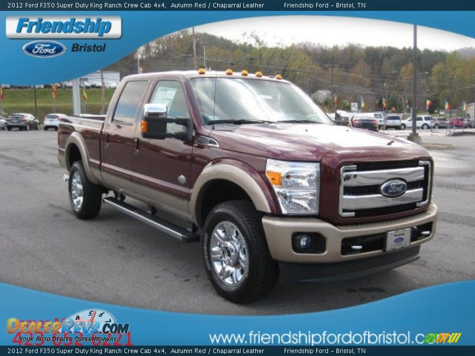 2012 ford f350 super duty king ranch crew cab 4x4 autumn red chaparral leather photo 4. Black Bedroom Furniture Sets. Home Design Ideas