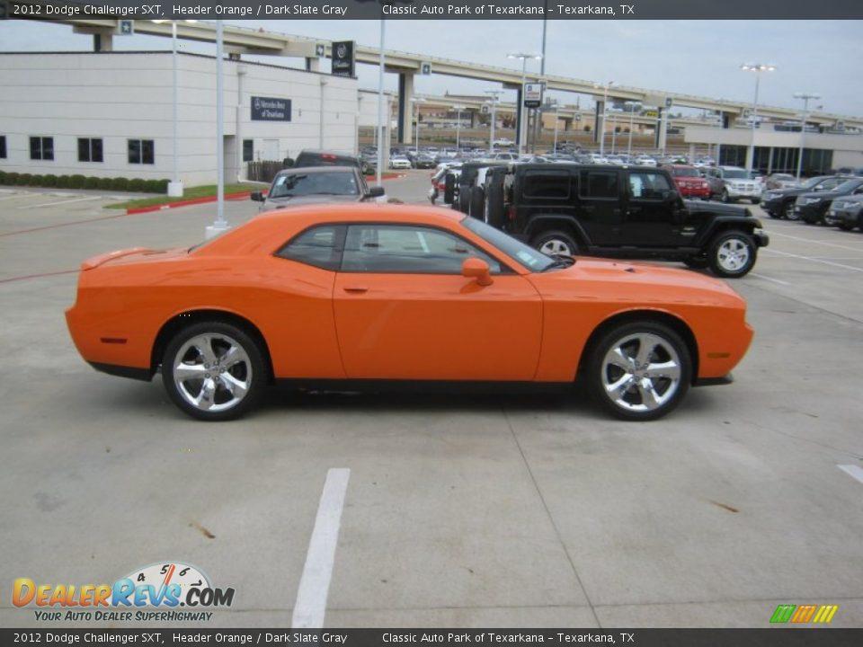 2012 Dodge Challenger Sxt Header Orange Dark Slate Gray