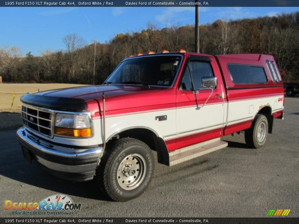 1995 ford f150 xlt regular cab 4x4 oxford white red photo 1. Black Bedroom Furniture Sets. Home Design Ideas