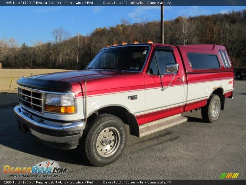 1995 Ford F150 Xlt Regular Cab 4x4 Oxford White Red