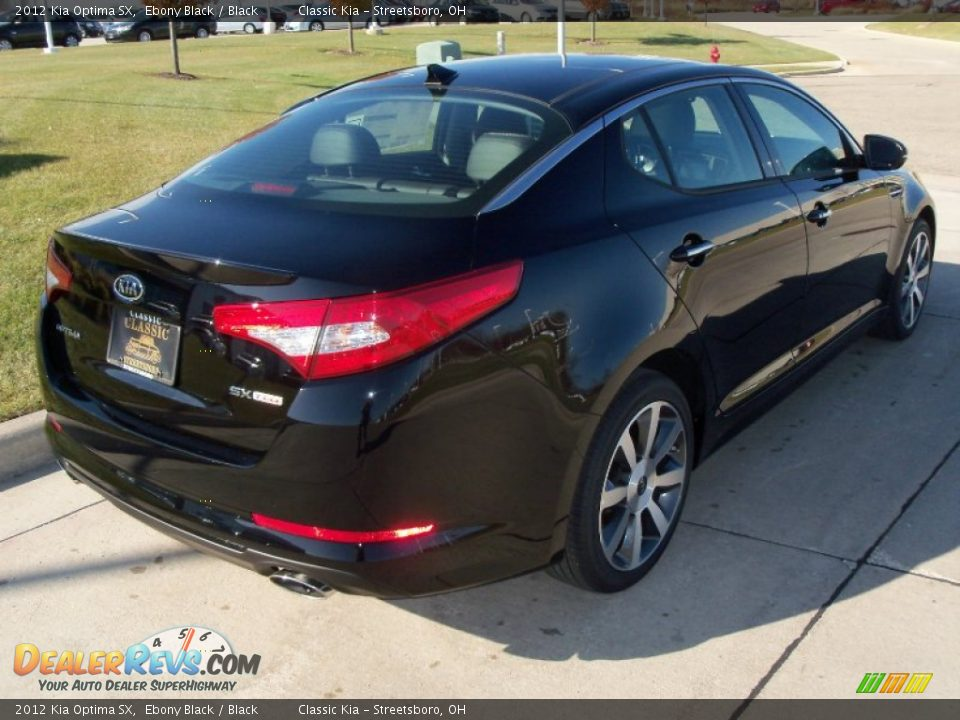2012 Kia Optima SX Ebony Black / Black Photo #4 ...