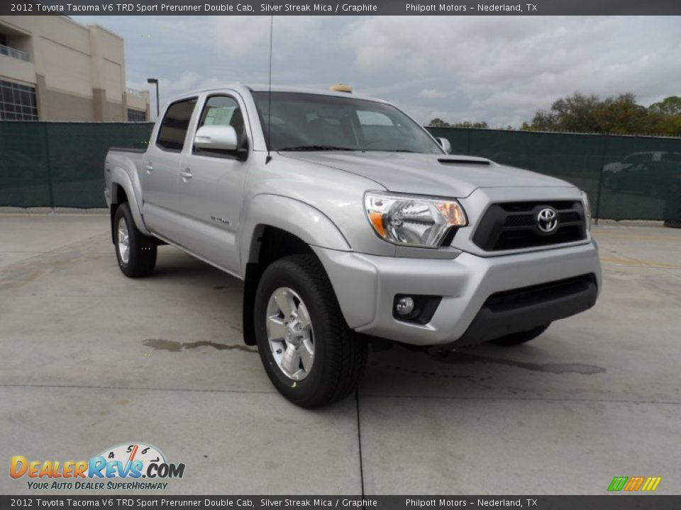 2012 toyota tacoma v6 trd sport prerunner double cab silver streak mica graphite photo 1. Black Bedroom Furniture Sets. Home Design Ideas