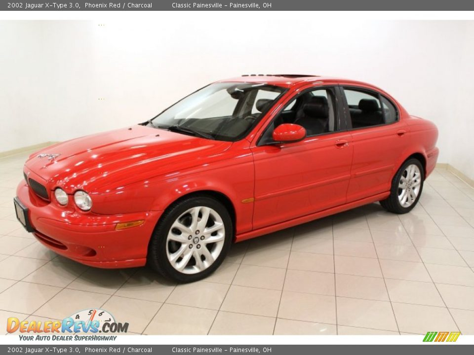 2002 jaguar x type 3 0 phoenix red charcoal photo 3. Black Bedroom Furniture Sets. Home Design Ideas
