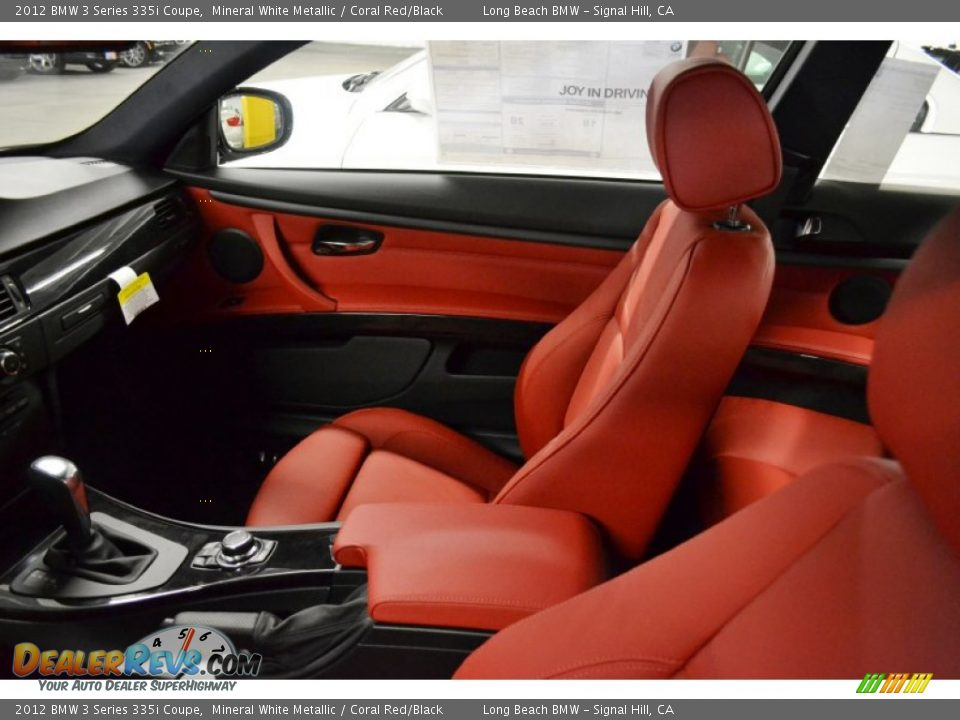Coral Red Black Interior 2012 Bmw 3 Series 335i Coupe Photo 6