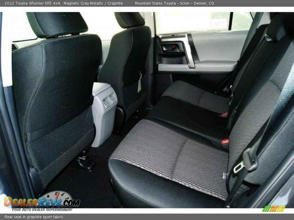 rear seat in graphite sport fabric 2012 toyota 4runner. Black Bedroom Furniture Sets. Home Design Ideas
