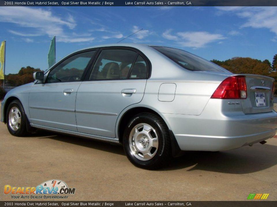 2003 honda civic hybrid sedan opal silver blue metallic. Black Bedroom Furniture Sets. Home Design Ideas